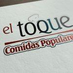 """colecciones de más marketing Logotipo """"El Toque"""" Comidas Populares"""